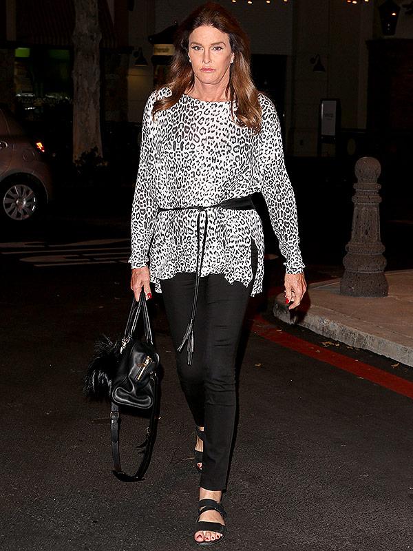 Caitlin Jenner leopard top
